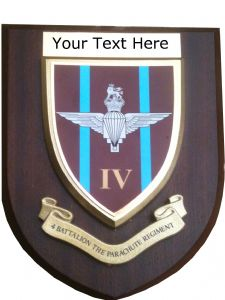 4th Parachute Regiment Personalised Military Wall Plaque